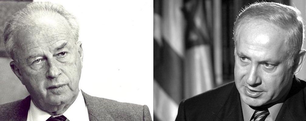 Un confronto tra Rabin e Netanyahu