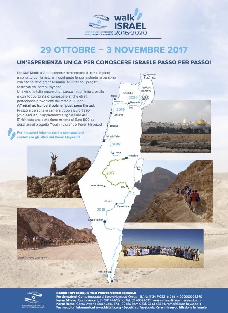 Walk Israel dal 29 ottobre al 3 novembre 2017