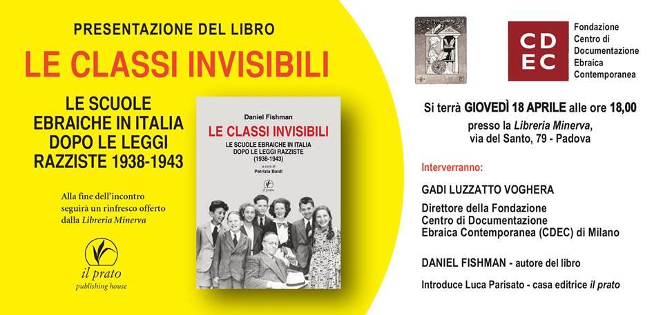 """Padova – Presentazione del libro:  """"Le classi invisibili"""""""